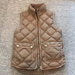 Tan J.Crew Vest with Pockets